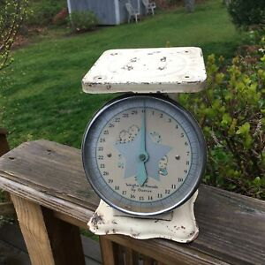 Antique Baby Household Scale 30 Pound Capacity