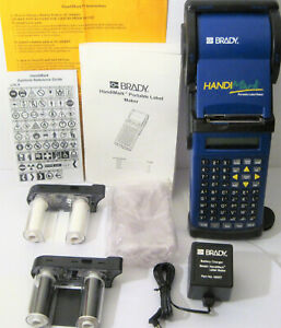 Brady Handimark Portable Label Maker Thermal Printer W extras 100 Working Batt