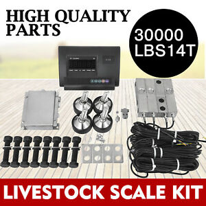 30000lbs Livestock Scale Kit For Animals Stainless Steel Floor Scale Agriculture