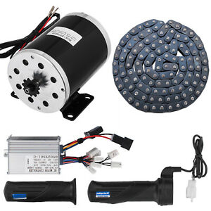1000w 48v Dc Electric Motor Kit Control Box F Scooter Ebike Gokart Diy