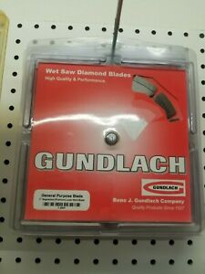 Gundlach General Purpose Wet Saw Diamond Blade