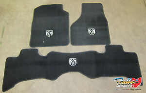2009 2012 Dodge Ram 1500 Front Rear Quad Cab Carpeted Black Floor Mat Mopar Oem