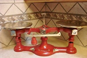 Superb Rare Antique No 0 Fairbanks Scale Restored Scales Vintage Brass Plates