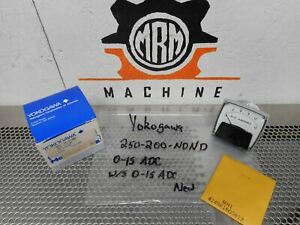Yokogawa 250 200 ndnd 0 15 D c Amperes Panel Meter Mh1 4149k16g0813 New In Box
