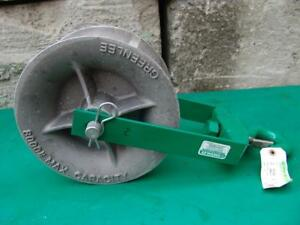 Greenlee 8012 12 Inch 8000 Lbs Sheave For Greenlee Tugger Puller Great Shape 2