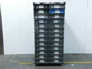 Pallet Of 26 Orbis 48x22x7 Plastic Straight Wall Containers