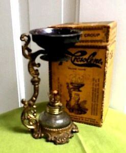 Antique Vapo Cresolene Kerosene Lamp Vaporizer And Original Box