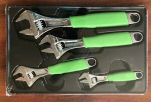 new Snap on Fadh704bg 4 Pc Flank Drive Adjustable Wrench Set Free Priority