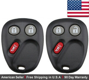 2x New Keyless Entry Remote Key Fob For Cadillac Chevy Gmc Saturn Lhj011