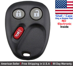 1x New Replacement Keyless Remote Lhj011 Key Fob Case For Gmc Chevy Shell
