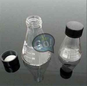Glass 150 3000ml Lab Glassware Conical Erlenmeyer Narrow Mouth Screw Cap Flask