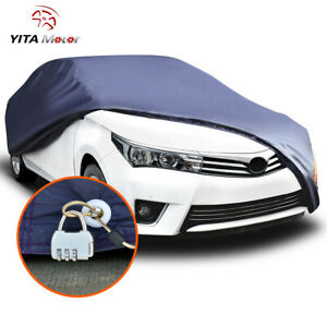 Yitamotor Car Cover Waterproof Rain Snow Heat Uv Dust Resistant Outdoor Indoor