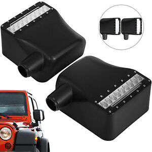 For 07 18 Jeep Wrangler Led Side Mirror Housing W Arrow Turn Signal Lights Drl
