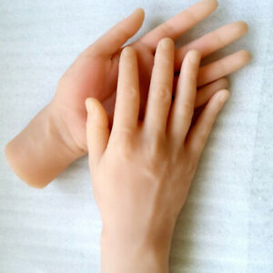 Male Silicone Hand Model Hand Mannequins Finger With Bone Normal Skin A701