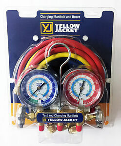 Yellow Jacket 42006 Series 41 Manifold 3 1 8 Gauges W hoses R22 134a 404a