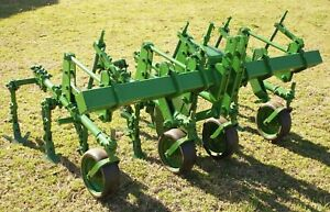 John Deere Rg2 2 Row Spring Trip Cultivator Toolbar 3 Pt Hitch Adjustable Width