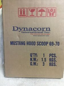 New Dynacorn 3641ql 1969 1970 Ford Mustang Hood Scoop Shaker Cast Metal