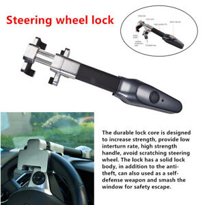 Auto Steering Wheel Lock Universal Security System Car Anti Theft Alarm Lock Kit