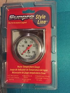 Sunpro Cp8207 Mechanical Water oil Temperature Styleline Gauge White Dial