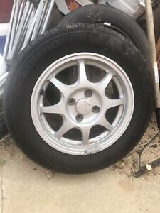 Honda Civic Hx Wheels And Khumo Tires 2