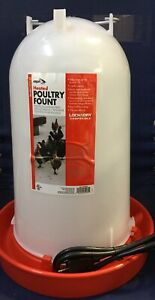 Allied Heated Poultry Fountain 3 Gallon Keeps Water Ice Free In Winter