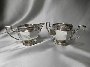 Vintage Sterling Silver Milk Jug And Sugar Bowl Set Of Two By Sheffield 3 25