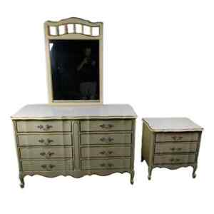 Princess 70s French Provincial Dressser W Mirror And Nightstand Sears Dixie Era