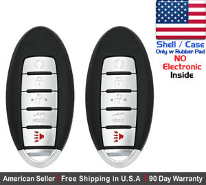 2x New Replacement Keyless Entry Remote Control Key Fob For Nissan Shell Case