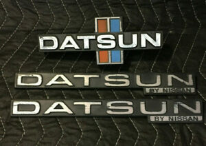 Datsun 720 King Cab Truck Oem Badges Emblems Grill Fenders Nissan Rare