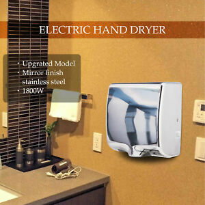 Stainless Steel Automatic Commercial Electric Hand Dryer Air Hand Blower 1800w