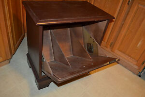 Vtg Lane Furniture Mid Century Record Album Lp Stereo Turntable Cabinet Wood