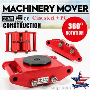 Heavy Duty Machinery Mover Dolly Skate Roller Move 360 Rotation 6t 13200lb Usa