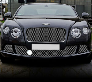 Chrome Bumper Lower Mesh Grille Set For Bentley Continental Gt Gtc 12 18