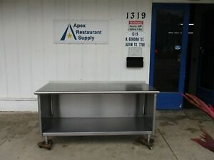 Stainless Steel 71 X 30 Work Table prep Table W cabinet 3856