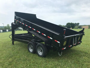 14ft Gator Made Gooseneck Dump Trailer look