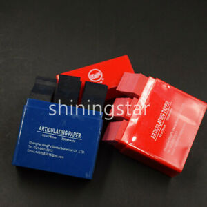 300 Pcs box Dental Articulating Paper Double Sided Strips Blue red Box To Select
