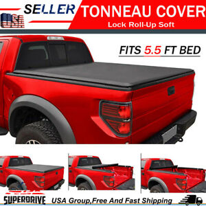 Premium Lock Roll Up Soft Tonneau Cover Fit 2015 2018 Ford F 150 5 5 Ft 66 Bed