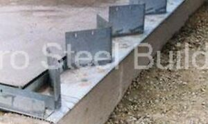 Duro Steel Arch Building 40 Metal Hand Welded Industrial Base Connector Plate