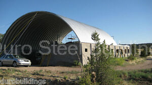 Durospan Steel 30x34x14 Metal Arch Roof Quonset Building Kit Open Ends Direct