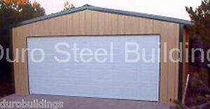 Durobeam Steel 30x36x11 Metal Prefab Garage Workshop I beam Building Kit Direct