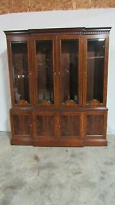 Councill Furniture China Cabinet Breakfront Mahogany