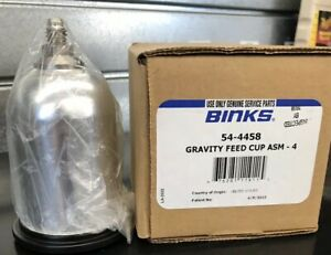 Binks 54 4458 Sri Hvlp Gravity Feed Spray Gun Cup Spot Repair 4 Ounce