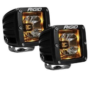 Rigid Radiance Fog Lights Light Pair Amber F 150 2017 2018 2019 18 17