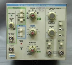 Textronix Pg507 50mhz Dual Output Pulse Generator Tested Good