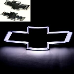 Chevrolet Malibu Oem Black Illuminated Front Rear Bowtie Emblems New