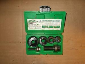 Greenlee Slug Buster Knockout Punch Set 7235bb 1 2 1 1 4 Conduit Case