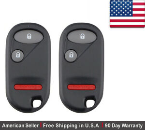 2x New Replacement Keyless Remote Control Key Fob For Honda Oucg8d 344h a