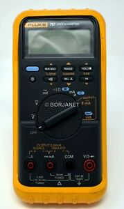 Fluke 787 Processmeter Digital Multimeter With Test Leads And Yellow Holster