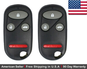 2x New Replacement Keyless Entry Remote Control Key Fob For Honda Accord