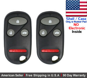 2x New Replacement Remote Case Key Fob For Honda Accord Acura Shell Only